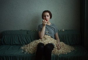 popcorn-eating